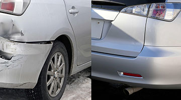 car dents and scratches repaired in rayleigh