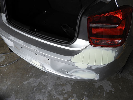 car dent repaired by our experts