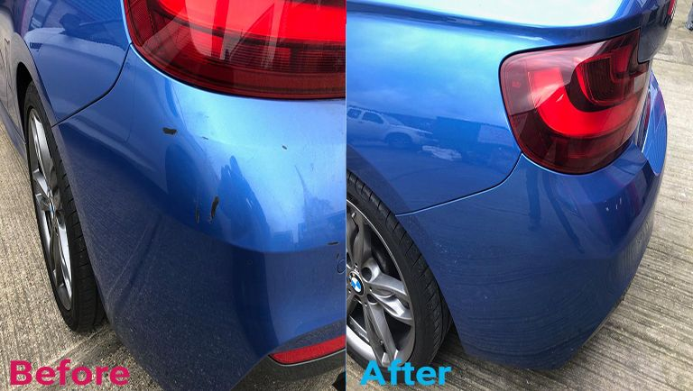car scratches repaired before and after
